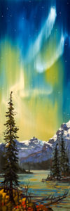 "SOLD ""A Night So Clear,"" by Rod Charlesworth 12 x 36 – oil $2085 Unframed"
