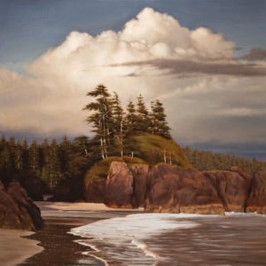 "SOLD ""Northern Beach in Evening Light,"" by Ray Ward 30 x 30 – oil $3270 Unframed"