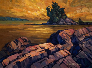 "SOLD ""Northern Isl.,"" by Phil Buytendorp 12 x 16 – oil $1025 Framed"