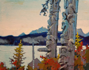 "SOLD ""North of Karlukwees,"" by Robert Genn 11 x 14 – acrylic $2700 Unframed"