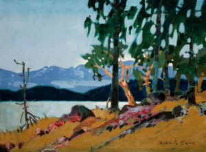 "SOLD ""North Point, Lasqueti Island, B.C.,"" by Robert Genn 12 x 16 – acrylic $3000 Unframed"