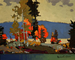 "SOLD ""October 17, Lake of the Woods,"" by Robert Genn 8 x 10 – acrylic $2100 Unframed $2330 Custom framed"