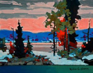 "SOLD ""October 20, Lake of the Woods,"" by Robert Genn 8 x 10 – acrylic $2100 Unframed $2330 Custom framed"