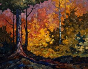 "SOLD ""October Foliage,"" by Phil Buytendorp 16 x 20 – oil $1320 Framed"