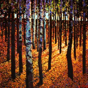 "SOLD ""October Gold,"" by Michael O'Toole 30 x 30 – acrylic $3200 Unframed"