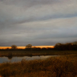 "SOLD ""October Gold,"" by Renato Muccillo 12 x 12 - oil $1890 in show frame"