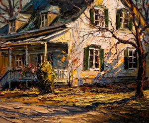 "SOLD ""Ombres et lumière,"" by Raynald Leclerc (Shadows and Light) 20 x 24 – oil $2000 Unframed"