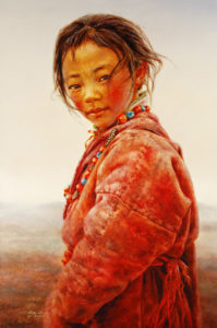 "SOLD ""On a Foggy Day,"" by Donna Zhang 24 x 36 – oil"