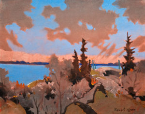 "SOLD ""On a Solemn Afternoon, Lake of the Woods,"" by Robert Genn 11 x 14 – acrylic $3300 Unframed"
