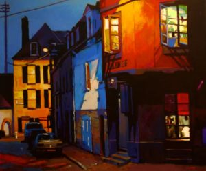 """SOLD """"One More Night in Brittany,"""" by Mike Svob 40 x 48 – acrylic $8660 (thick canvas wrap without frame)"""