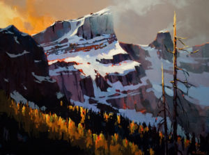 "SOLD ""One of the Three Sisters,"" by Michael O'Toole 30 x 40 – acrylic $3700 Unframed"