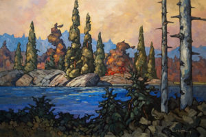 "SOLD ""On Lac Des Roche,"" by Phil Buytendorp 24 x 36 – oil $2480 Framed"