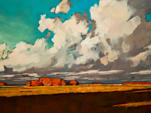 "SOLD ""Open Sky,"" by Min Ma 9 x 12 - acrylic $740 Unframed $945 in show frame"