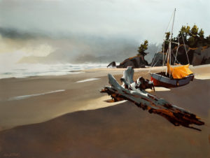 "SOLD ""Oregon Coast Soft Day,"" by Michael O'Toole 30 x 40 – acrylic $4070 Unframed"