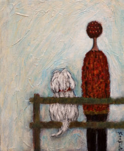 "SOLD ""Our Favourite Spot,"" by Bev Binfet 8 x 10 - mixed media $330 Unframed $420 in show frame"