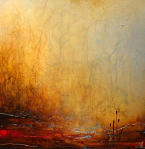 """SOLD """"Ours to Discover,"""" by Laura Harris 36 x 36 – acrylic $3350 (thick canvas wrap without frame)"""