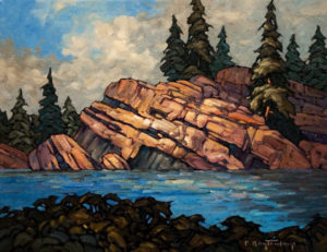 "SOLD ""Outcropping,"" by Phil Buytendorp 16 x 20 – oil $1210 Unframed"