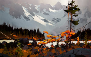 "SOLD ""Panorama (Howe Sound),"" by Michael O'Toole 30 x 48 – acrylic $4850 Unframed"