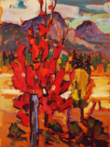 "SOLD ""Passion Near Lumby,"" by Ed Loenen 9 x 12 – oil $550 Framed"