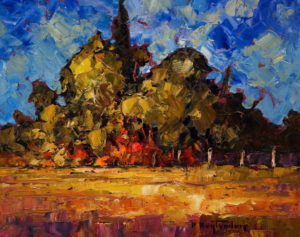 "SOLD ""Pasture From Bates Road,"" by Phil Buytendorp 8 x 10 – oil $580 Framed"