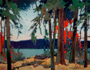 "SOLD ""Pattern at French Narrows, Lake of the Woods,"" by Robert Genn 11 x 14 – acrylic $2400 Unframed"