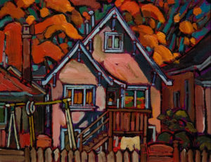 "SOLD ""Perfect Fall Morning in Vancouver East,"" by Ed Loenen 8 x 10 – oil (1998)  $510 Framed"