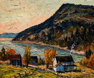 "SOLD ""Port au Persil,"" by Raynald Leclerc 20 x 24 – oil $1900 Unframed"