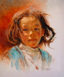 "SOLD ""Precious Gem,"" by Donna Zhang 20 x 24 – oil"