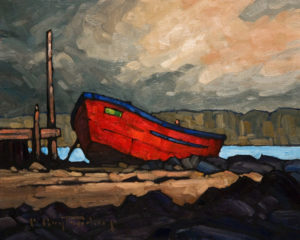 "SOLD ""Red Tender,"" by Phil Buytendorp 8 x 10 - oil $470 Unframed $645 in show frame"