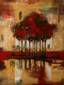 """SOLD """"Reflections,"""" by Heather Haynes 30 x 40 – acrylic $2410 (thick canvas wrap without frame)"""