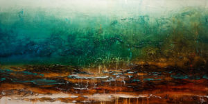 """SOLD """"Remember This Place,"""" by Laura Harris 30 x 60 – acrylic $5670 (thick canvas wrap without frame)"""