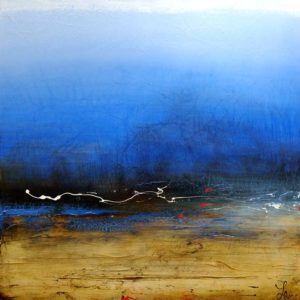 "SOLD ""Resilient,"" by Laura Harris 36 x 36 – acrylic $3350 (thick canvas wrap without frame)"