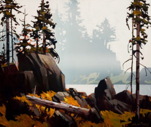 "SOLD ""Rivers Inlet,"" by Michael O'Toole 20 x 24 – acrylic $1950 Framed"