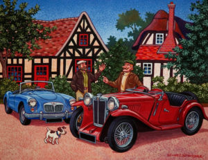 """SOLD """"Road Stories,"""" by Michael Stockdale 14 x 18 – acrylic $730 Unframed"""
