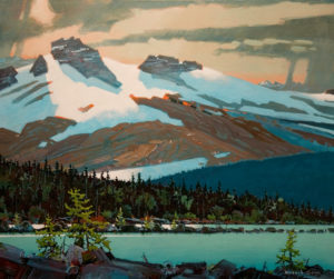 "SOLD ""Rockies Energy,"" by Robert Genn 30 x 36 – acrylic $15,500 Unframed"