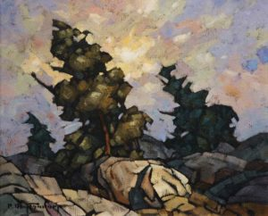 "SOLD ""Rocks,"" by Phil Buytendorp 10 x 12 – oil $760 Framed"