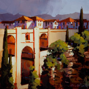"SOLD ""Ronda, Spain,"" by Michael O'Toole 12 x 12 – acrylic $720 Unframed"