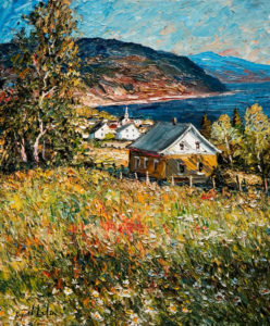 "SOLD ""Saint Irénée Charlevoix,"" by Raynald Leclerc 20 x 24 – oil $2000 Unframed"