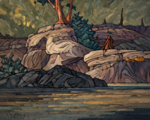 "SOLD ""Sandstone Shore,"" by Phil Buytendorp 16 x 20 – oil $1330 Unframed"