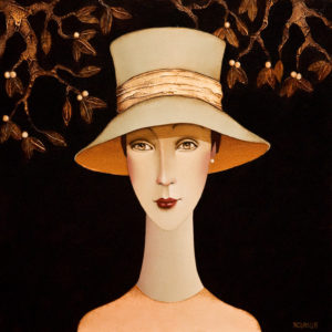 "SOLD ""Sarah,"" by Danny McBride 16 x 16 – acrylic $1625 Unframed"