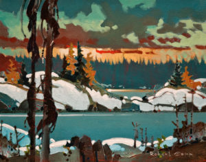 "SOLD ""Scotty's Point, October, Lake of the Woods,"" by Robert Genn 11 x 14 – acrylic $2600 Unframed"
