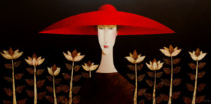"SOLD ""Secret Garden"" , by Danny McBride 48 x 96 – acrylic $18,250 (thick canvas wrap without frame)"