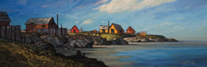 "SOLD ""A Sense of Community,"" by Phil Buytendorp 12 x 36 – oil $1440 Unframed"