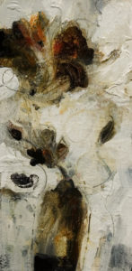 "SOLD ""Sensuous,"" by Susan Flaig 10 x 20 – acrylic/graphite $700 Unframed"