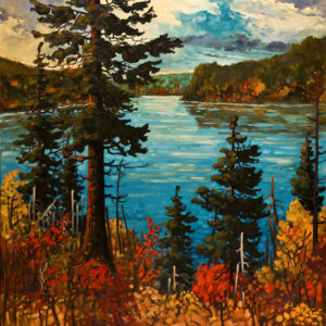"SOLD ""September, Algonquin,"" by Rod Charlesworth 48 x 48 – oil $5660 Unframed"