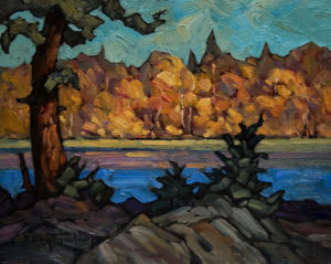 "SOLD ""September Shore,"" by Phil Buytendorp 8 x 10 – oil $580 Framed"