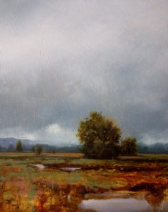 "SOLD ""September Storm I,"" by Renato Muccillo 8 x 10 – oil"