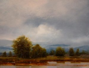 "SOLD ""September Storm II,"" by Renato Muccillo 9 x 12 – oil"