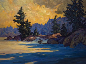 "SOLD ""Shadows,"" by Phil Buytendorp 36 x 48 – oil $4285 Framed"