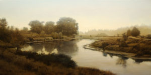 "SOLD ""Sharpe Road – Westward View,"" by Renato Muccillo 12 x 24 – oil $2500 Custom framed"